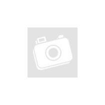 Fényes fekete onix karkötőszett, ezüst hematit ásványgyöngyökkel és cirkónia köves, ezüst színű koronával