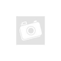 Rózsakvarc ásvány szív kulcstartó, angyalkával