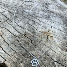 Kutya mancs fityegős ezüst színű rozsdamentes acél nyaklánc