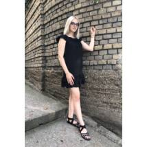 Fekete - alul fodros ruha