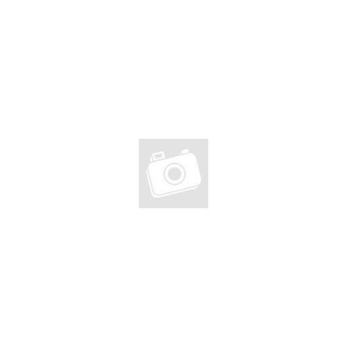 Szürke selyem ásványkarkötő, rózsakvarc ásványgyöngyökkel,cirkónia kővel kirakott ezüst színű leopárd fejjel