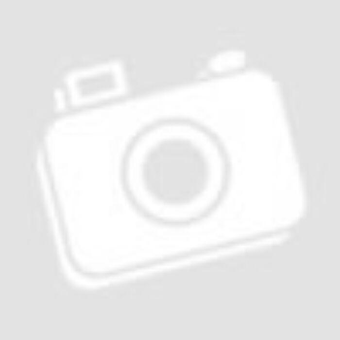Szürke selyem ásványkarkötő, rózsakvarc gyöngyökkel, cirkónia köves ezüst színű leopárd fejjel