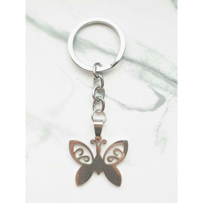 Pillangó -fém kulcstartó-
